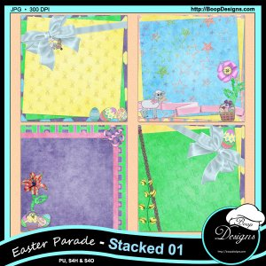 Easter Parade Stacked Papers by Boop Designs