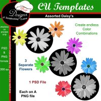 Assorted Daisy�s TEMPLATES by Boop Designs