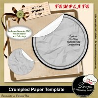 Crumpled Paper Sticker TEMPLATE by Boop Designs