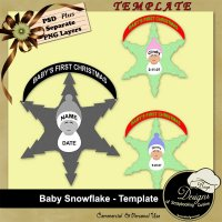 Baby Snowflake - Template by Boop Designs