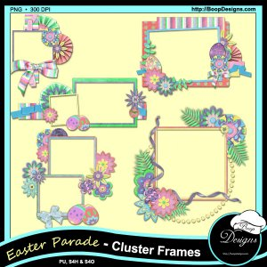 Easter Parade Cluster Frames by Boop Designs