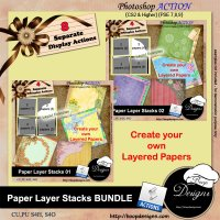 Paper Layer Stacks BUNDLE by Boop Designs