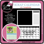Printable Scrap Calendar - CU Template by Boop Designs