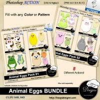 Animal Egg BUNDLE by Boop Designs