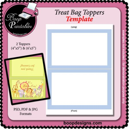 Bag Design Template Bag Topper Template by Boop