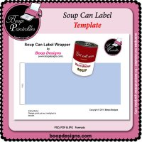 Soup Can label TEMPLATE by Boop Designs
