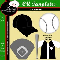 Baseball - CU TEMPLATES by Boop Designs