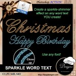 Sparkle Word Text by Boop Designs