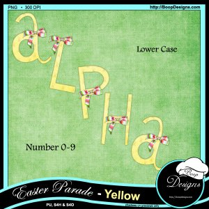 Easter Parade Alpha - Yellow by Boop Designs