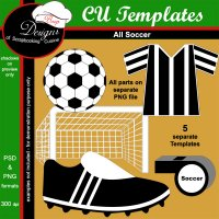 Soccer - CU Templates by Boop Designs