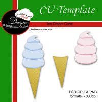 Ice Cream Cone - CU Templateby Boop Designs