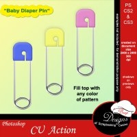 Baby Diaper Pin by Boop Designs