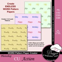 Word Pattern Paper Creator by Boop Designs