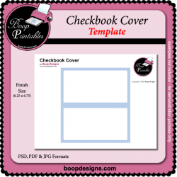 Checkbook Cover TEMPLATE by Boop Designs