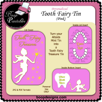 Tooth Fairy Tin Pink by Boop Designs