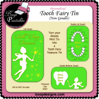 Tooth Fairy Tin Non Gender by Boop Designs