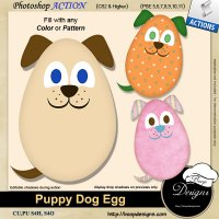 Puppy Dog Egg by Boop Designs