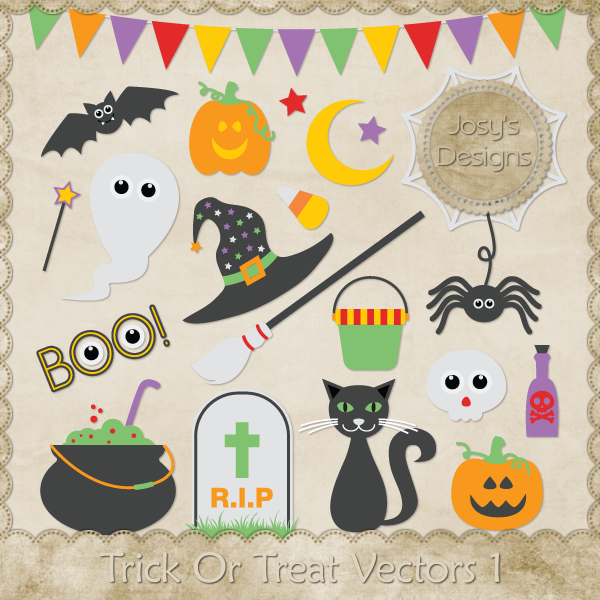 Trick Or Treat Vectors CU