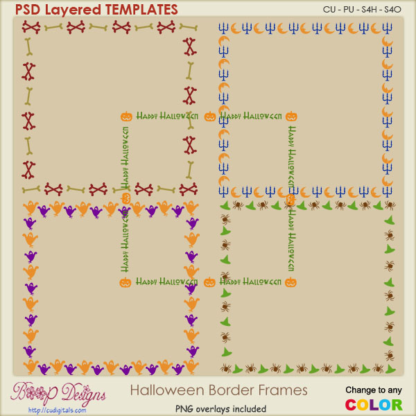 Halloween Border Frame Templates
