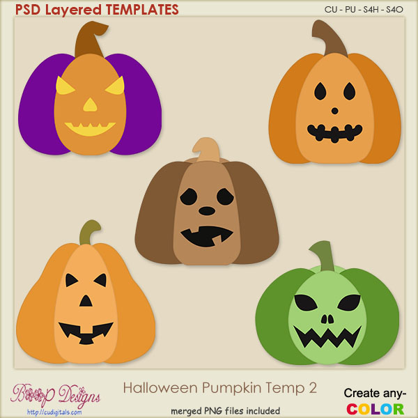 Halloween Pumpkin Layered TEMPLATES 2