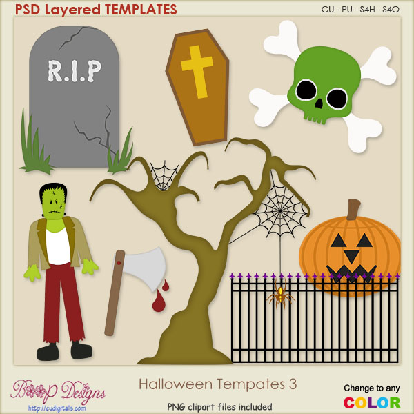 Halloween Layered TEMPLATES 3