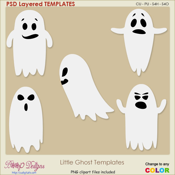 Little Ghost Layered TEMPLATES