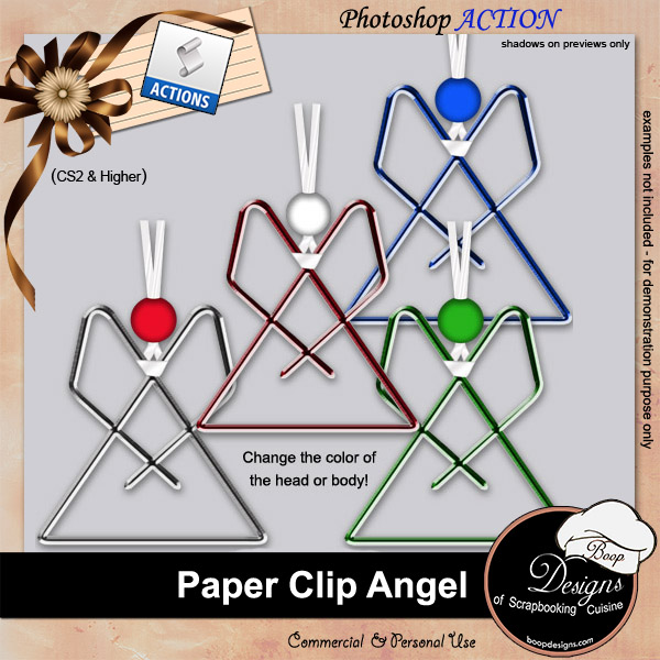 Paper Clip Angel by Boop Designs