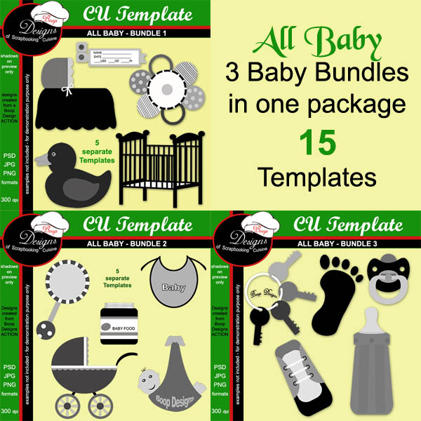 All Baby ULTIMATE - CU Templates by Boop Designs