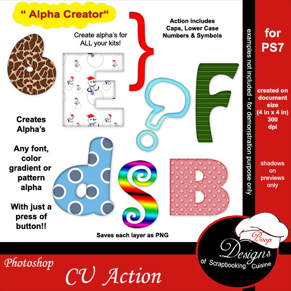 Alpha Creator for PS7 by Boop Designs