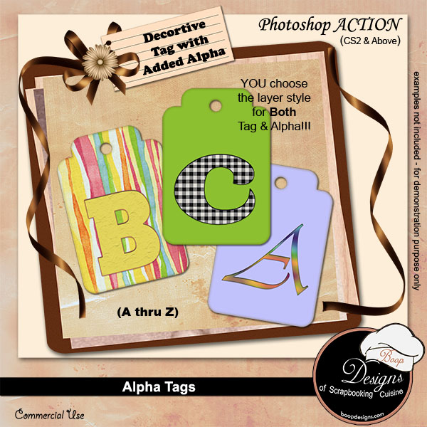 Alpha Tags Creator by Boop Designs