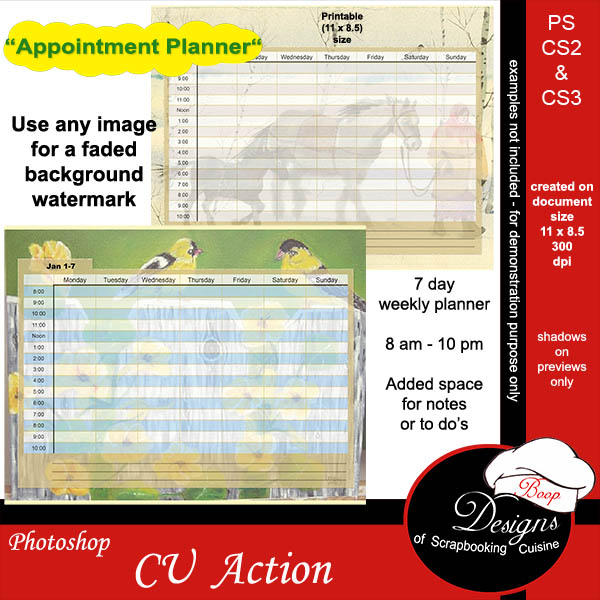 Appointment Planner by Boop Designs