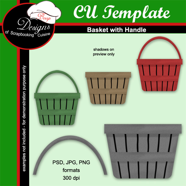 Basket - CU TEMPLATE by Boop Designs