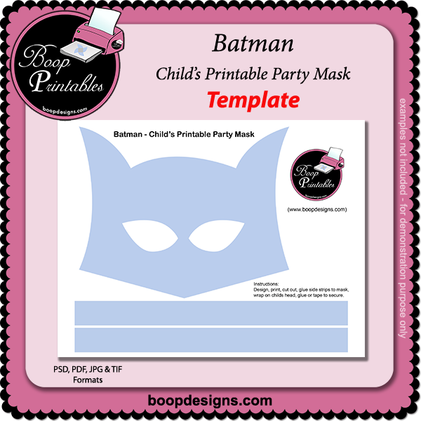 Batman - Printable Mask TEMPLATE by Boop Printables