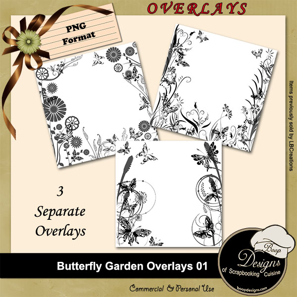 Butterfly Garden OVERLAYS 01 by Boop Designs