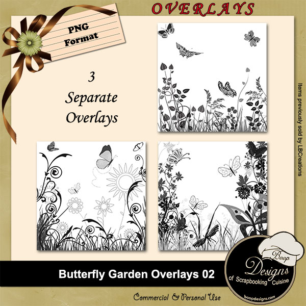 Butterfly Garden OVERLAYS 02 by Boop Designs