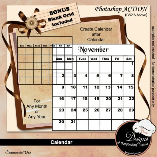 Calendar by Boop Designs