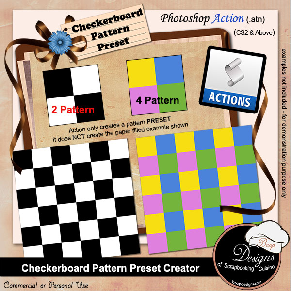Checkerboard Pattern Preset Creator by Boop Designs
