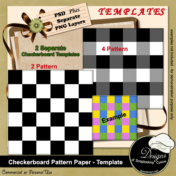 Checkerboard Paper Templates by Boop Designs