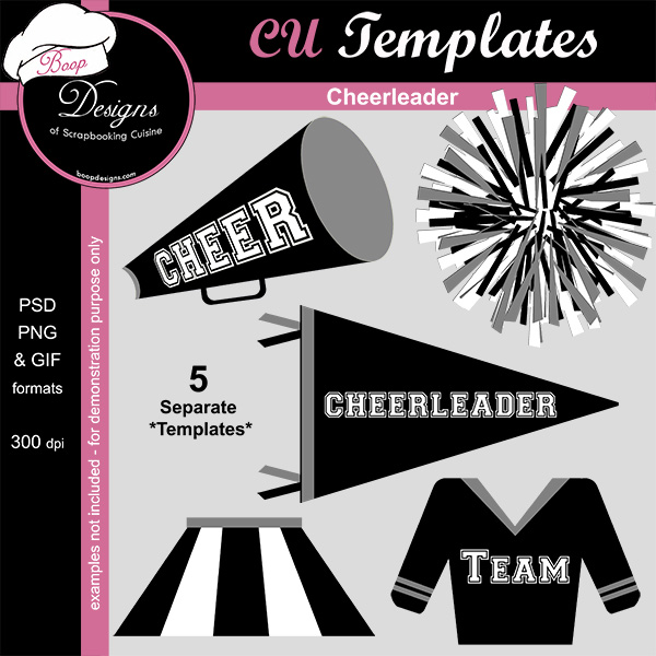Cheerleader - CU Templates by Boop Designs