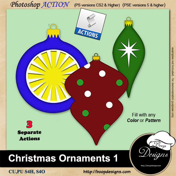 Christmas Ornaments I by Boop Designs