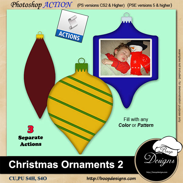 Christmas Ornaments II by Boop Designs