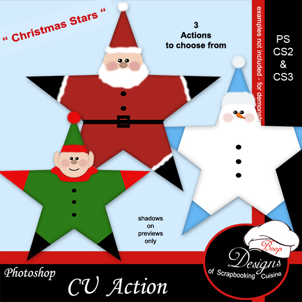 Christmas Stars by Boop Designs