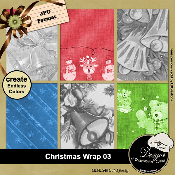 Christmas Wrap 03 - Overlay Papers by Boop Designs