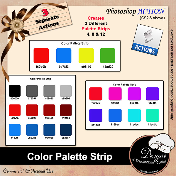 Color Palette Strips by Boop Designs