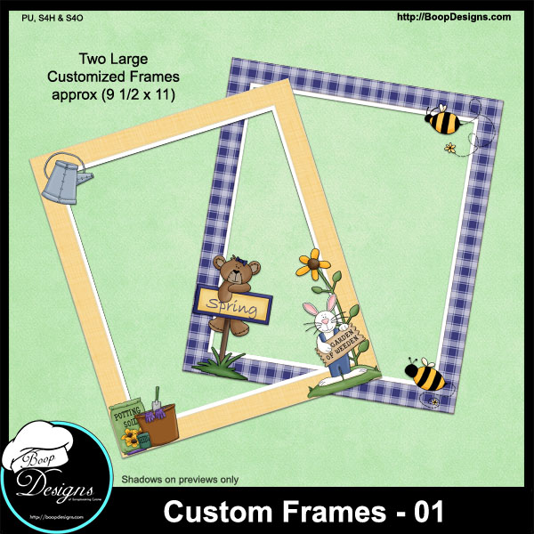 Custom Frames 01 by Boop Designs