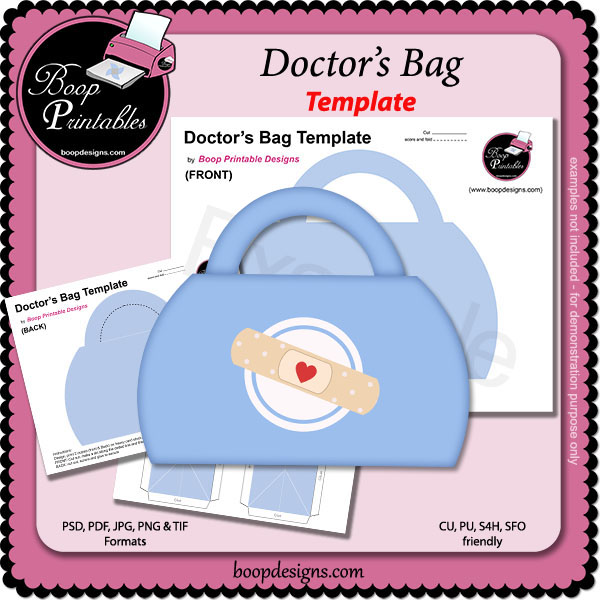 Doctor 39 s bag template by boop printables bp doctorsbag for Doctor bag craft template