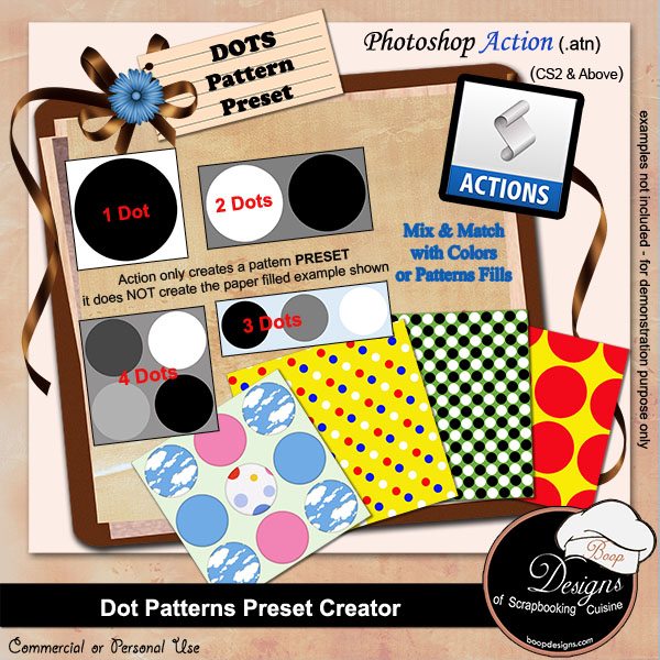 Dot Pattern PRESET Creator by Boop Designs