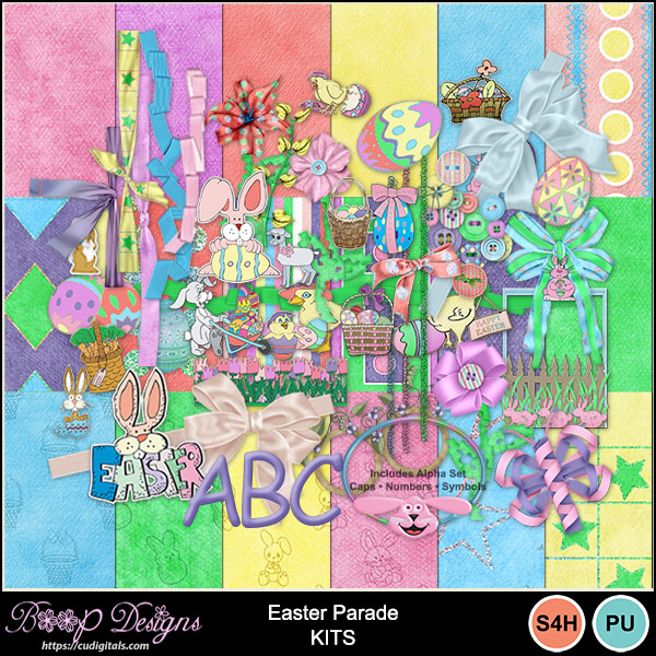 Easter Parade Scrap MEGA Kit by Boop Designs