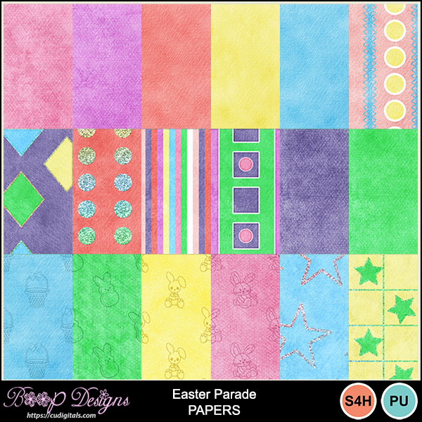 Easter Parade Paper Pack by Boop Designs