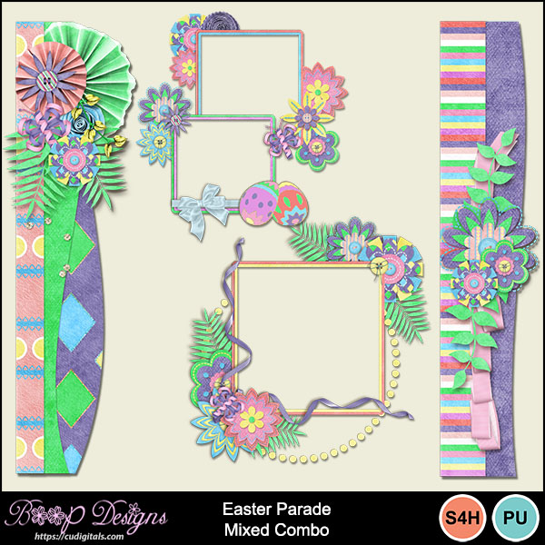 Easter Parade Cluster Combos by Boop Designs